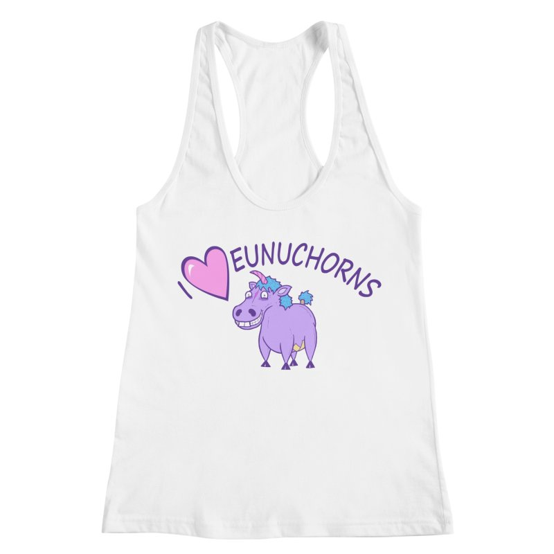 I (Heart) Eunuchorns Women's Racerback Tank by P. Calavara's Artist Shop