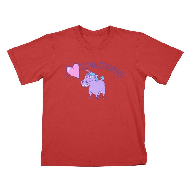 I (Heart) Eunuchorns Kids T-Shirt by P. Calavara's Artist Shop