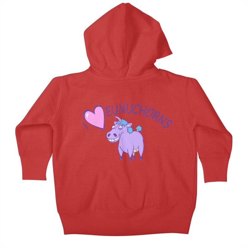 I (Heart) Eunuchorns Kids Baby Zip-Up Hoody by P. Calavara's Artist Shop
