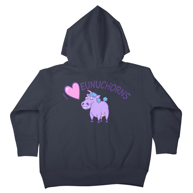 I (Heart) Eunuchorns Kids Toddler Zip-Up Hoody by P. Calavara's Artist Shop
