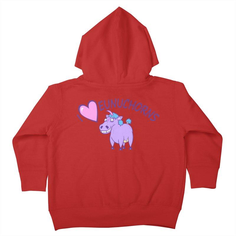 I (Heart) Eunuchorns Kids Toddler Zip-Up Hoody by P. Calavara's Artist Shop