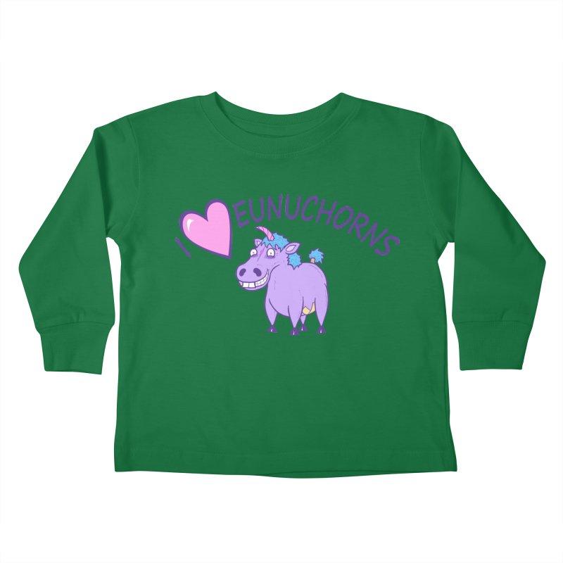 I (Heart) Eunuchorns Kids Toddler Longsleeve T-Shirt by P. Calavara's Artist Shop