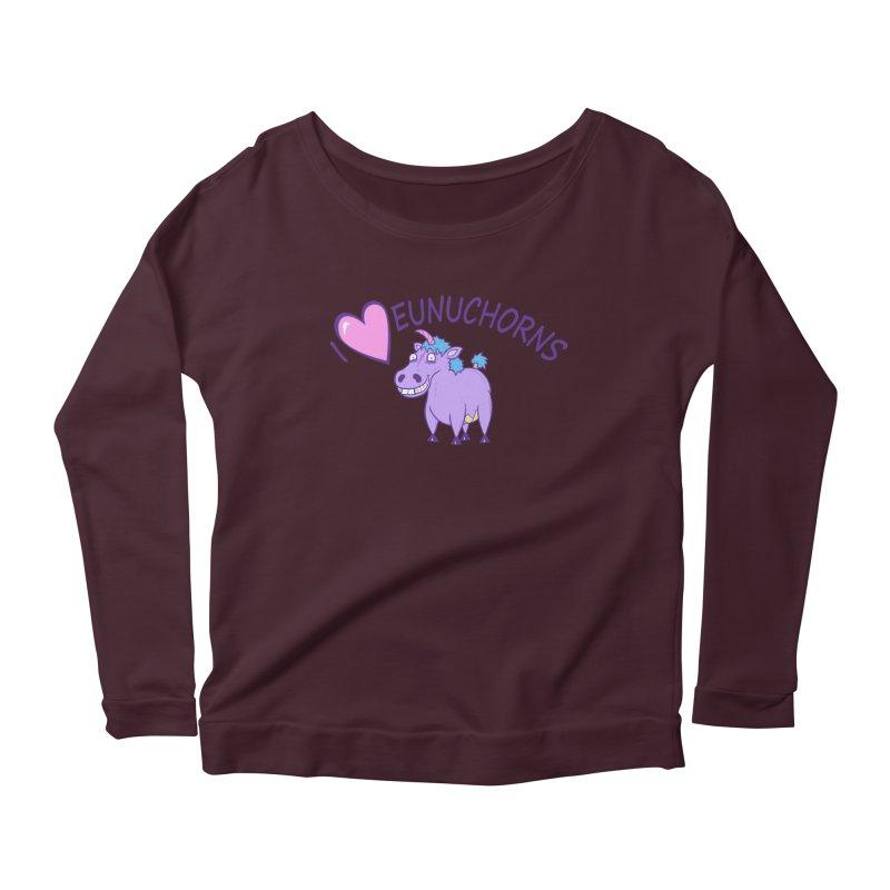 I (Heart) Eunuchorns Women's Longsleeve T-Shirt by P. Calavara's Artist Shop