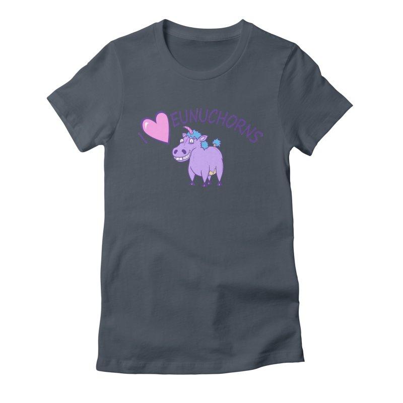 I (Heart) Eunuchorns Women's T-Shirt by P. Calavara's Artist Shop