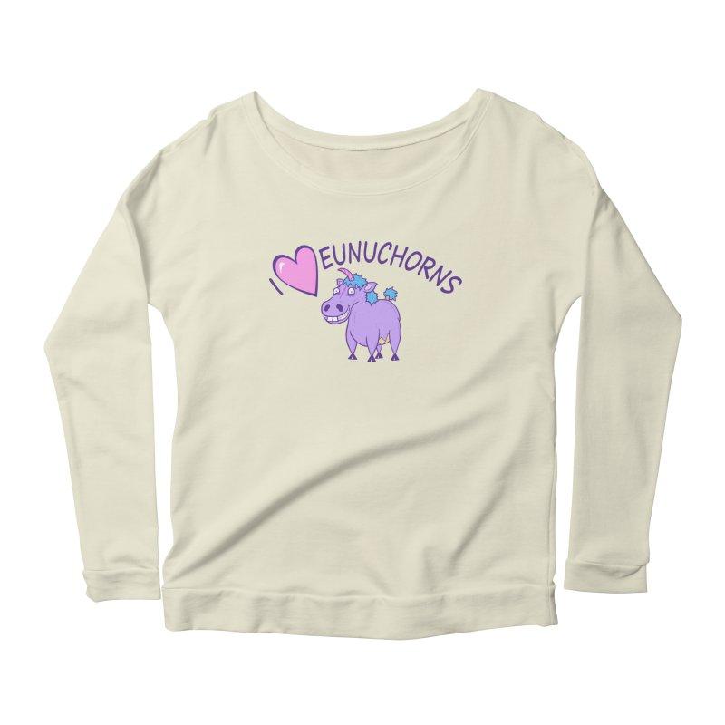 I (Heart) Eunuchorns Women's Scoop Neck Longsleeve T-Shirt by P. Calavara's Artist Shop