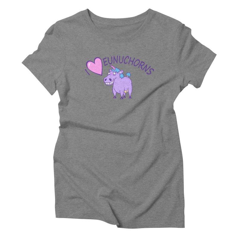I (Heart) Eunuchorns Women's Triblend T-Shirt by P. Calavara's Artist Shop