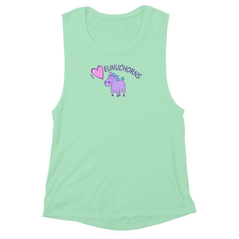 I (Heart) Eunuchorns Women's Muscle Tank by P. Calavara's Artist Shop