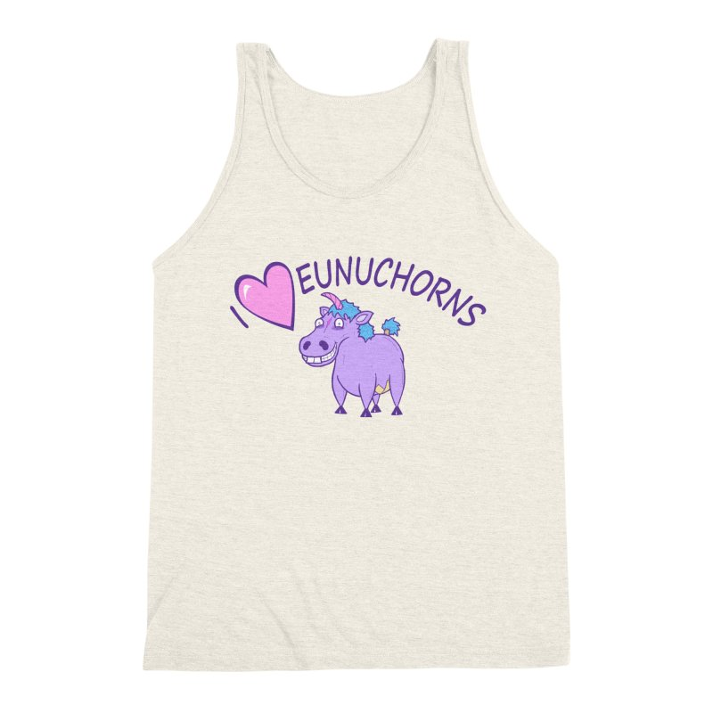 I (Heart) Eunuchorns Men's Triblend Tank by P. Calavara's Artist Shop