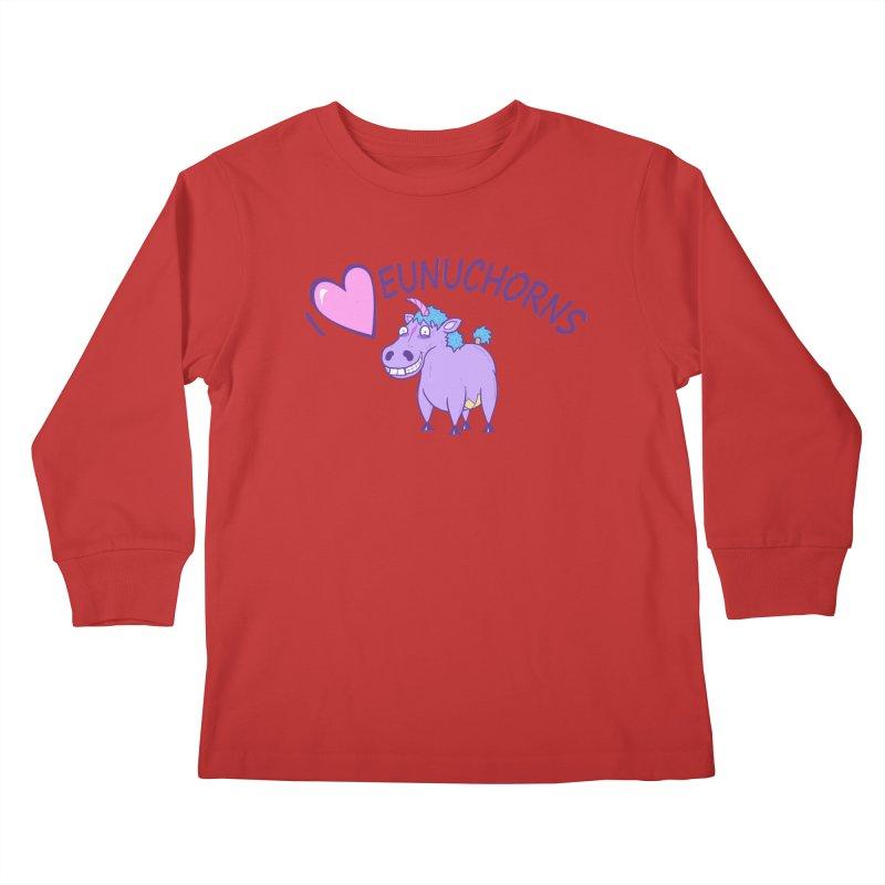 I (Heart) Eunuchorns Kids Longsleeve T-Shirt by P. Calavara's Artist Shop