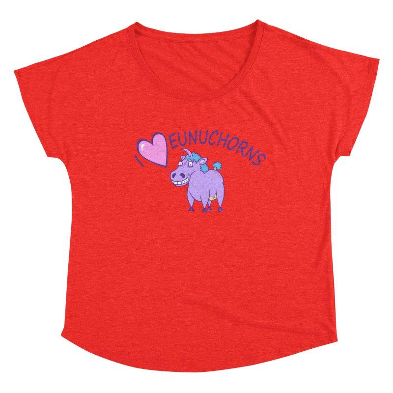 I (Heart) Eunuchorns Women's Scoop Neck by P. Calavara's Artist Shop