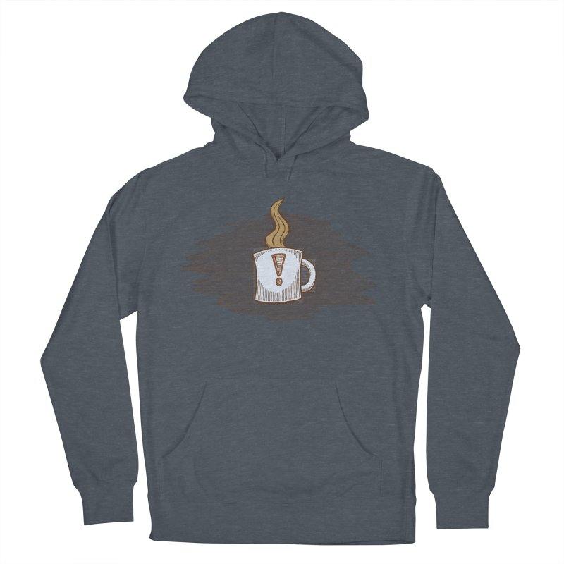 Coffee! Men's French Terry Pullover Hoody by P. Calavara's Artist Shop