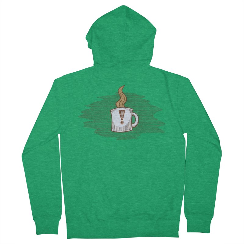 Coffee! Women's French Terry Zip-Up Hoody by P. Calavara's Artist Shop