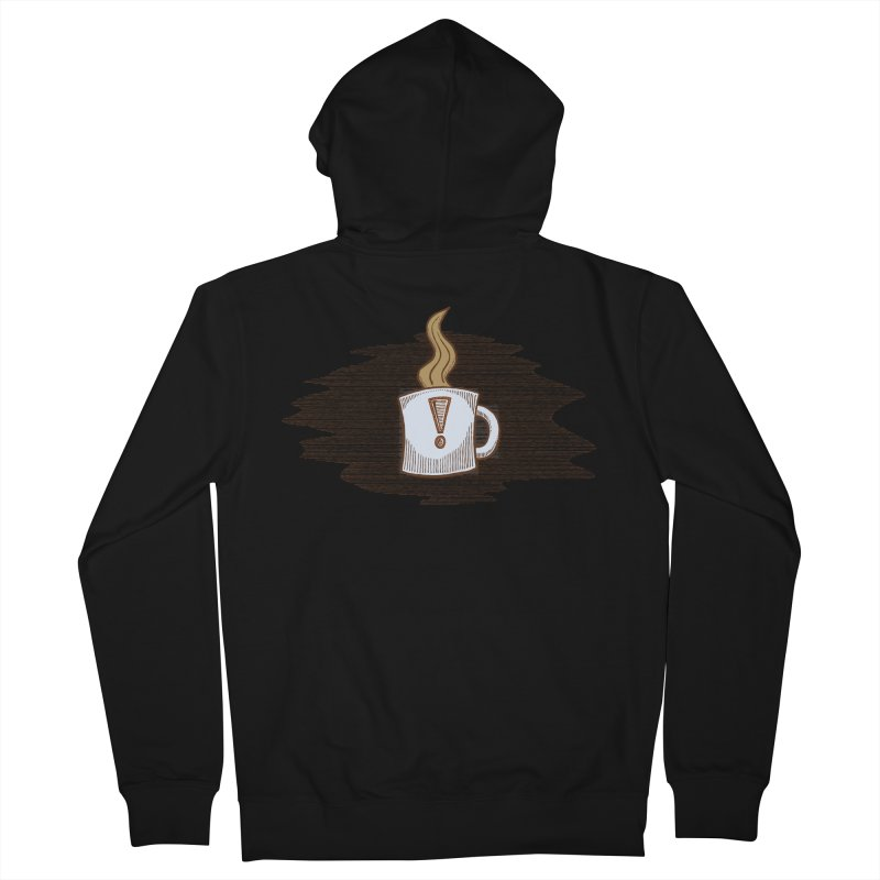 Coffee! Men's Zip-Up Hoody by P. Calavara's Artist Shop