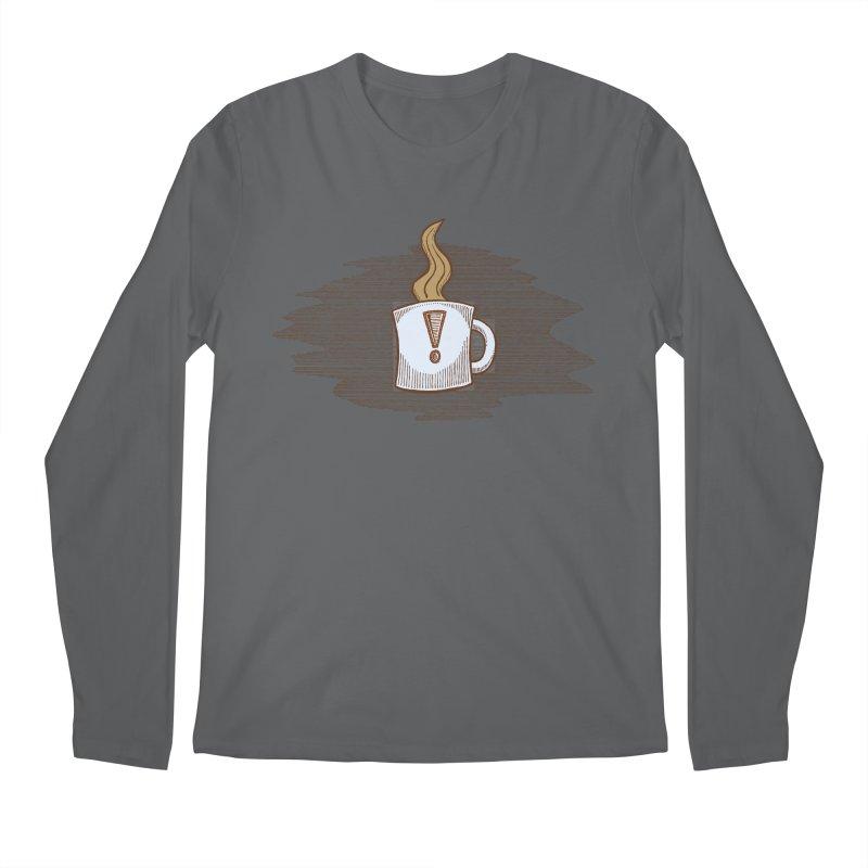 Coffee! Men's Regular Longsleeve T-Shirt by P. Calavara's Artist Shop
