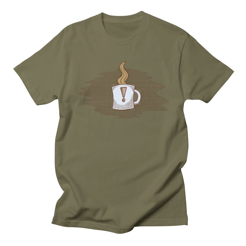Coffee! Men's Regular T-Shirt by P. Calavara's Artist Shop