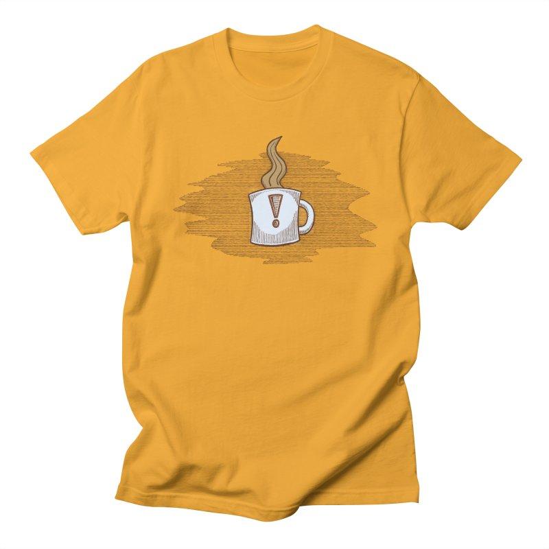 Coffee! Men's Regular T-Shirt by P. Calavara's Artist Shop