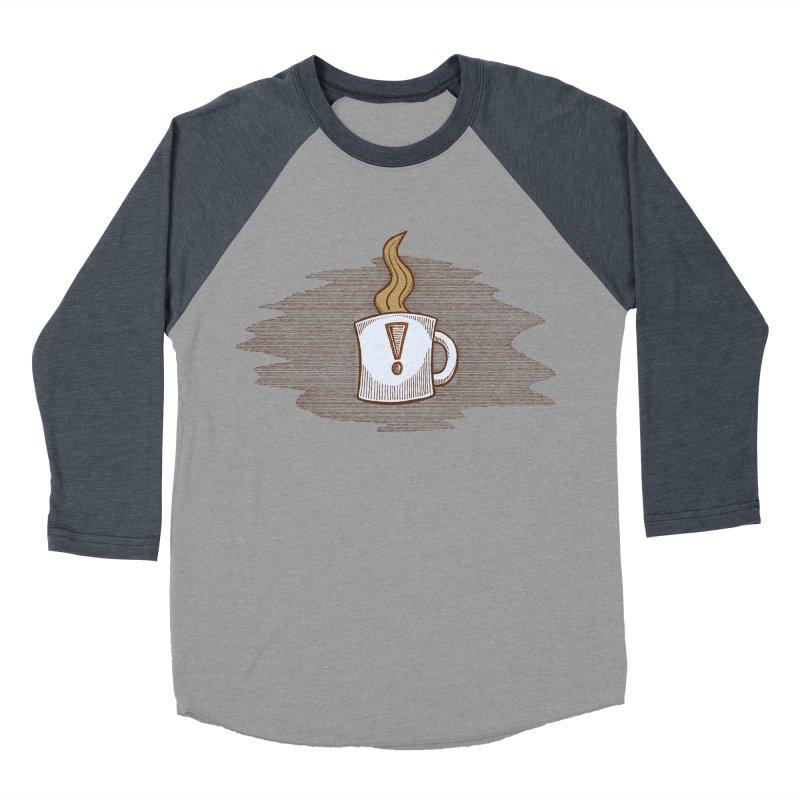 Coffee! Women's Baseball Triblend T-Shirt by P. Calavara's Artist Shop