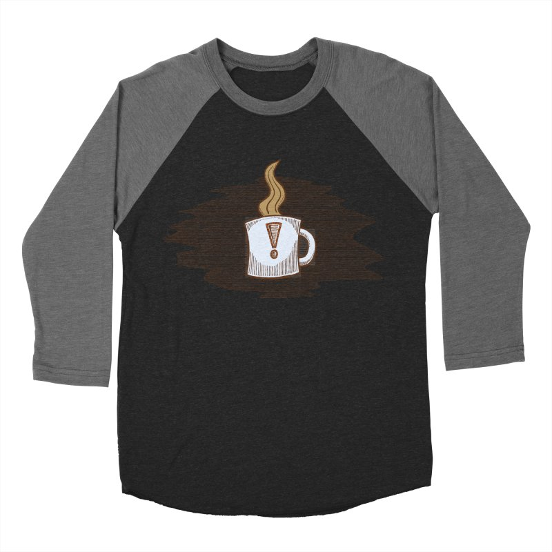 Coffee! Men's Baseball Triblend Longsleeve T-Shirt by P. Calavara's Artist Shop