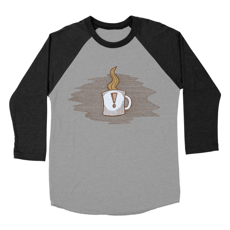 Coffee! Men's Baseball Triblend Longsleeve T-Shirt by P. Calavara's Artist Shop