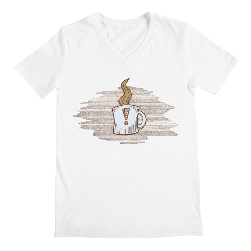 Coffee! Men's V-Neck by P. Calavara's Artist Shop
