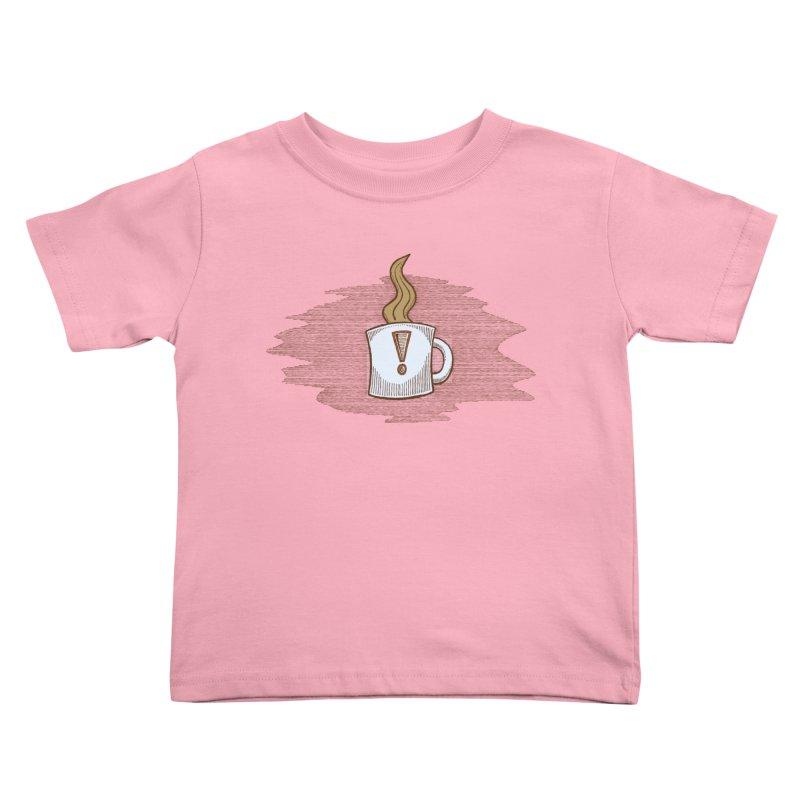 Coffee! Kids Toddler T-Shirt by P. Calavara's Artist Shop