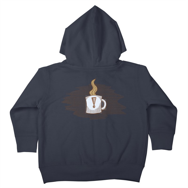 Coffee! Kids Toddler Zip-Up Hoody by P. Calavara's Artist Shop