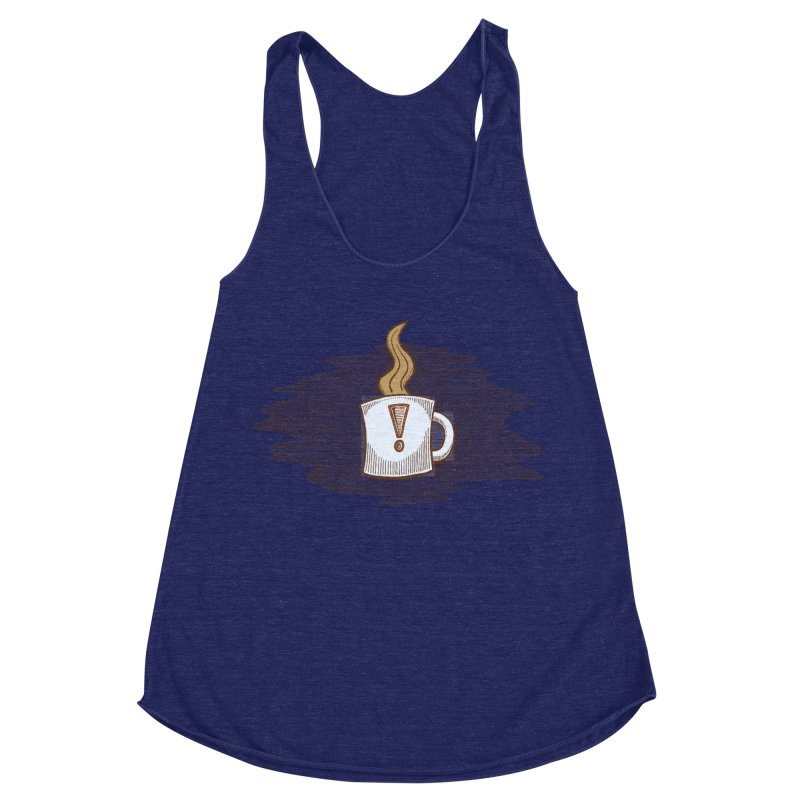 Coffee! Women's Racerback Triblend Tank by P. Calavara's Artist Shop