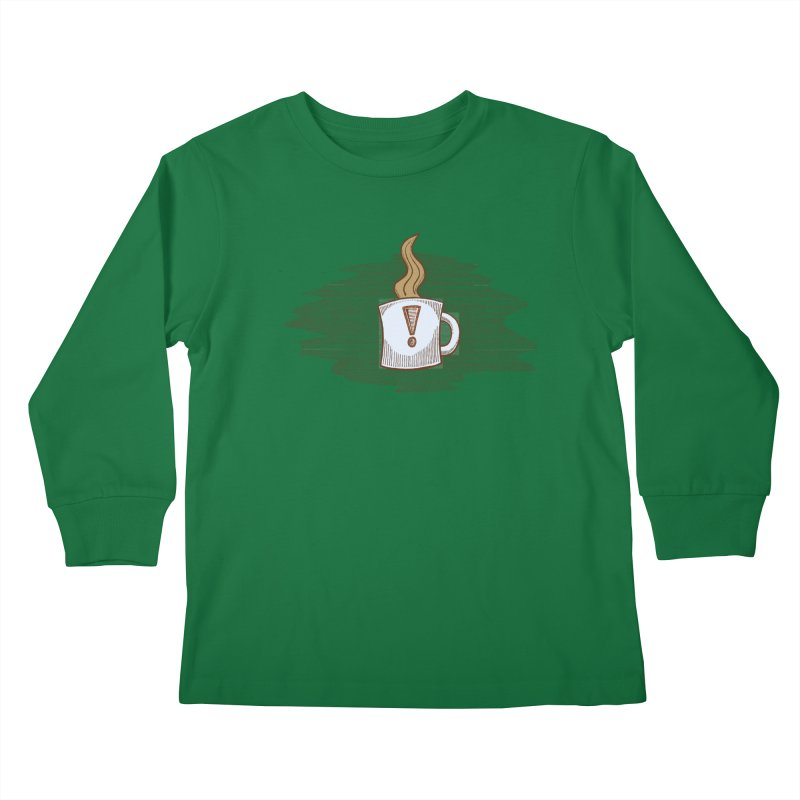 Coffee! Kids Longsleeve T-Shirt by P. Calavara's Artist Shop