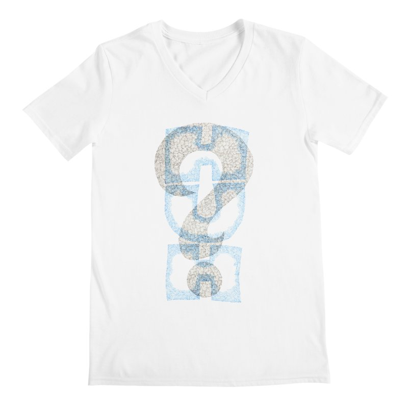 Huh? Men's V-Neck by P. Calavara's Artist Shop