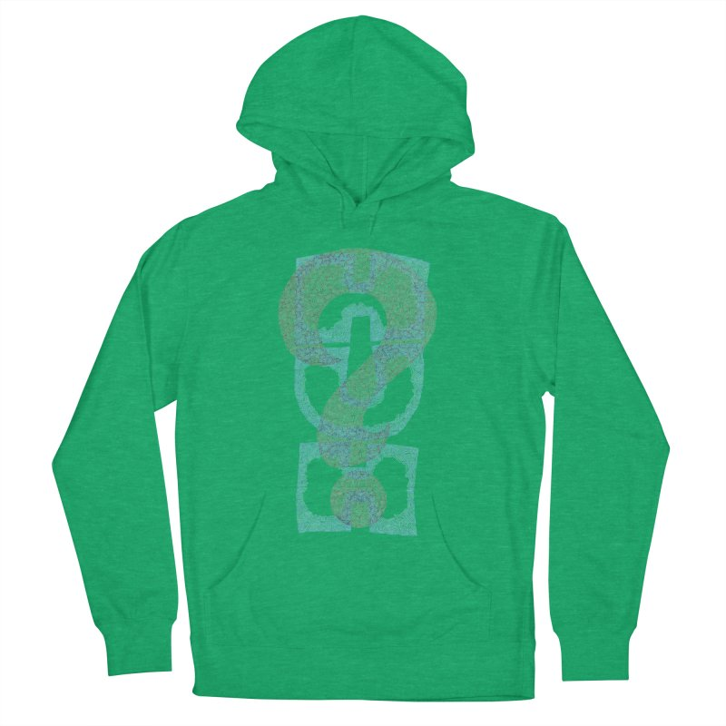 Huh? Men's French Terry Pullover Hoody by P. Calavara's Artist Shop