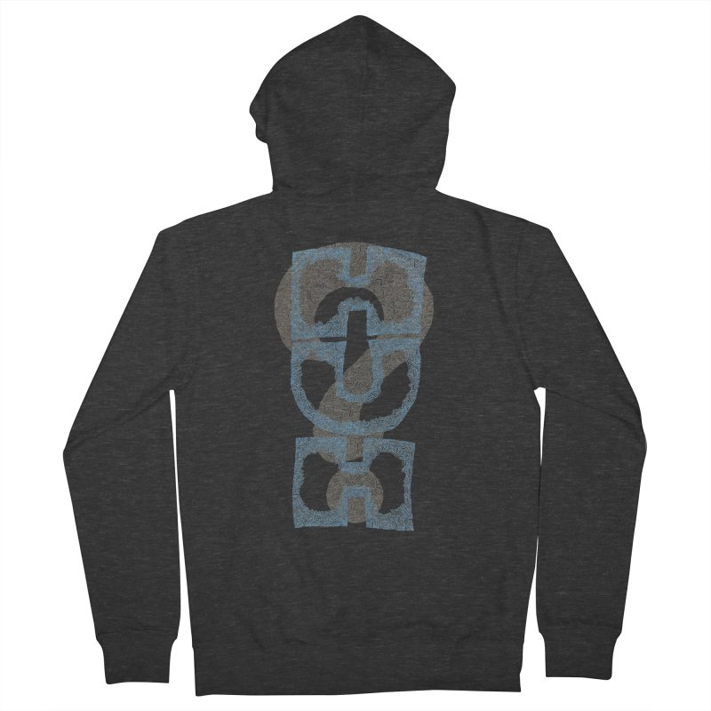 Huh? Men's Zip-Up Hoody by P. Calavara's Artist Shop
