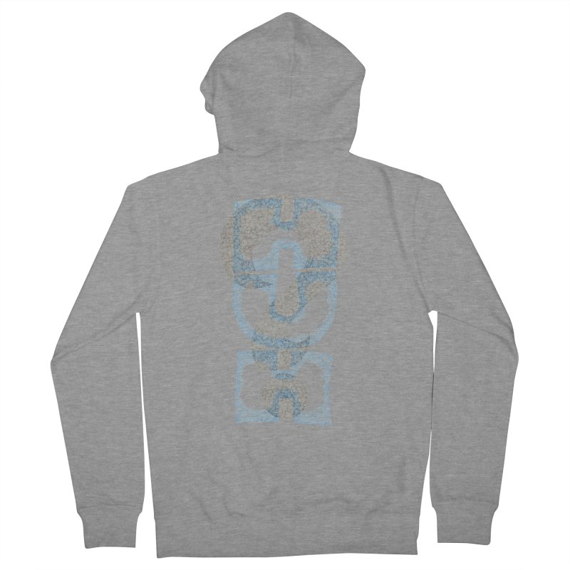 Huh? Men's French Terry Zip-Up Hoody by P. Calavara's Artist Shop