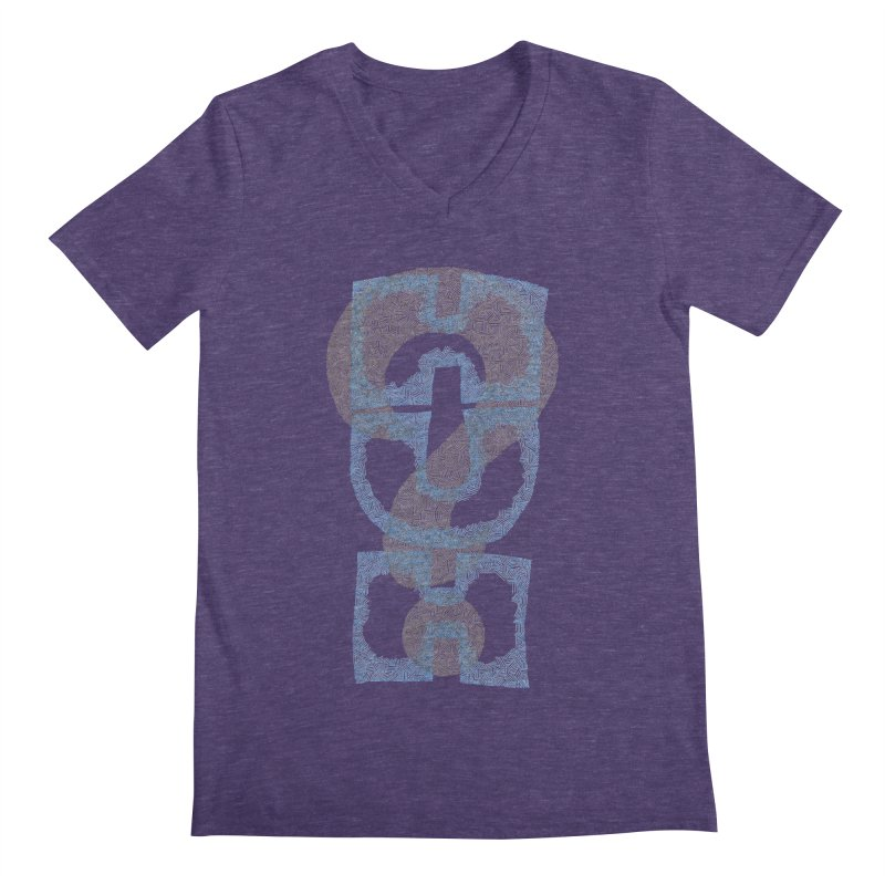 Huh? Men's Regular V-Neck by P. Calavara's Artist Shop