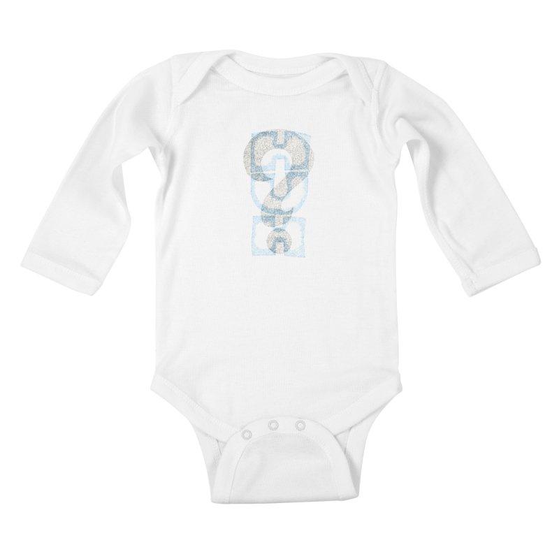 Huh? Kids Baby Longsleeve Bodysuit by P. Calavara's Artist Shop