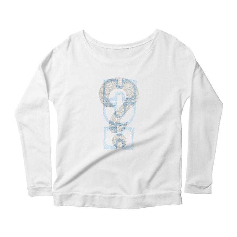 Huh? Women's Scoop Neck Longsleeve T-Shirt by P. Calavara's Artist Shop