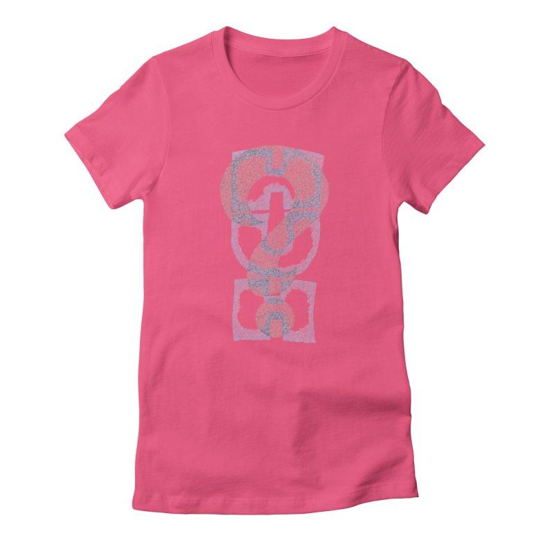 Huh? Women's Fitted T-Shirt by P. Calavara's Artist Shop