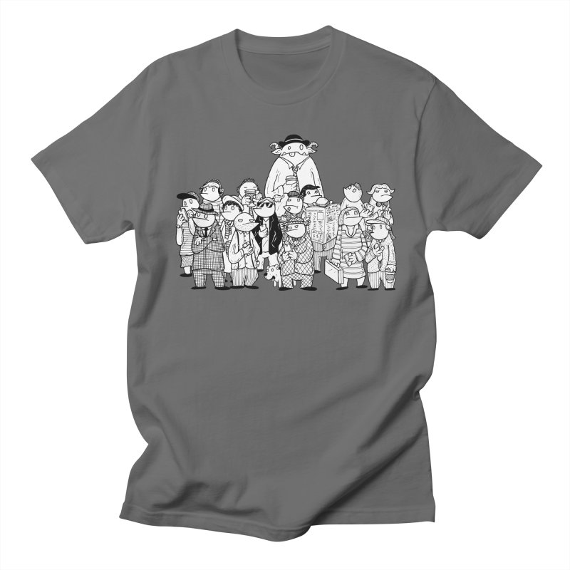 Lost in the Crowd - Bopes Men's T-Shirt by P. Calavara's Artist Shop