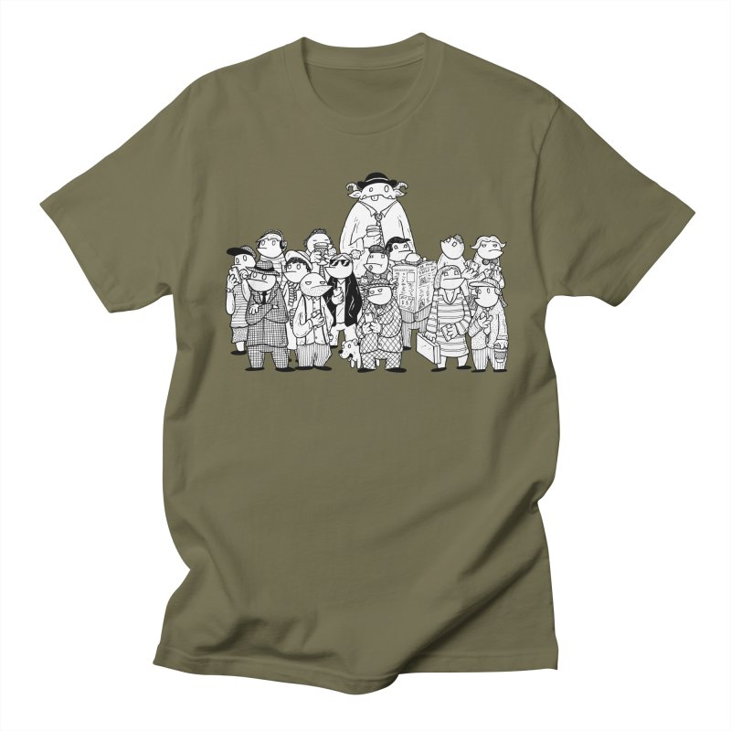 Lost in the Crowd - Bopes Men's Regular T-Shirt by P. Calavara's Artist Shop