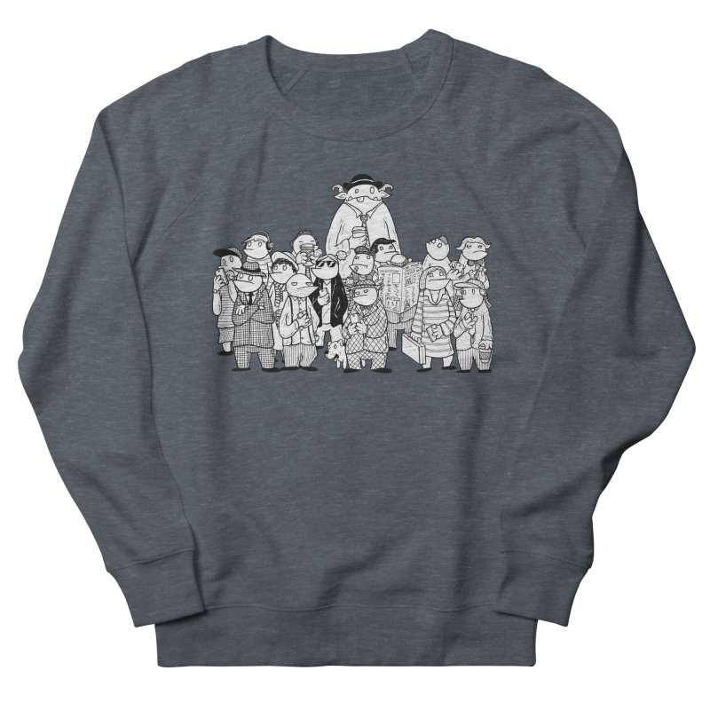 Lost in the Crowd - Bopes Men's French Terry Sweatshirt by P. Calavara's Artist Shop
