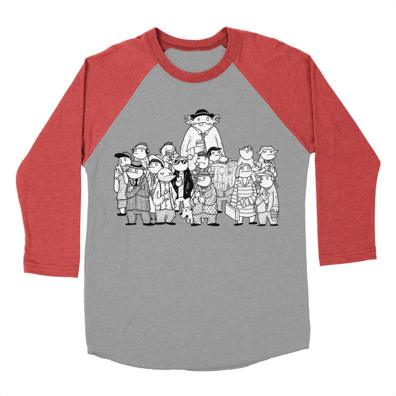 Lost in the Crowd - Bopes Women's Baseball Triblend Longsleeve T-Shirt by P. Calavara's Artist Shop