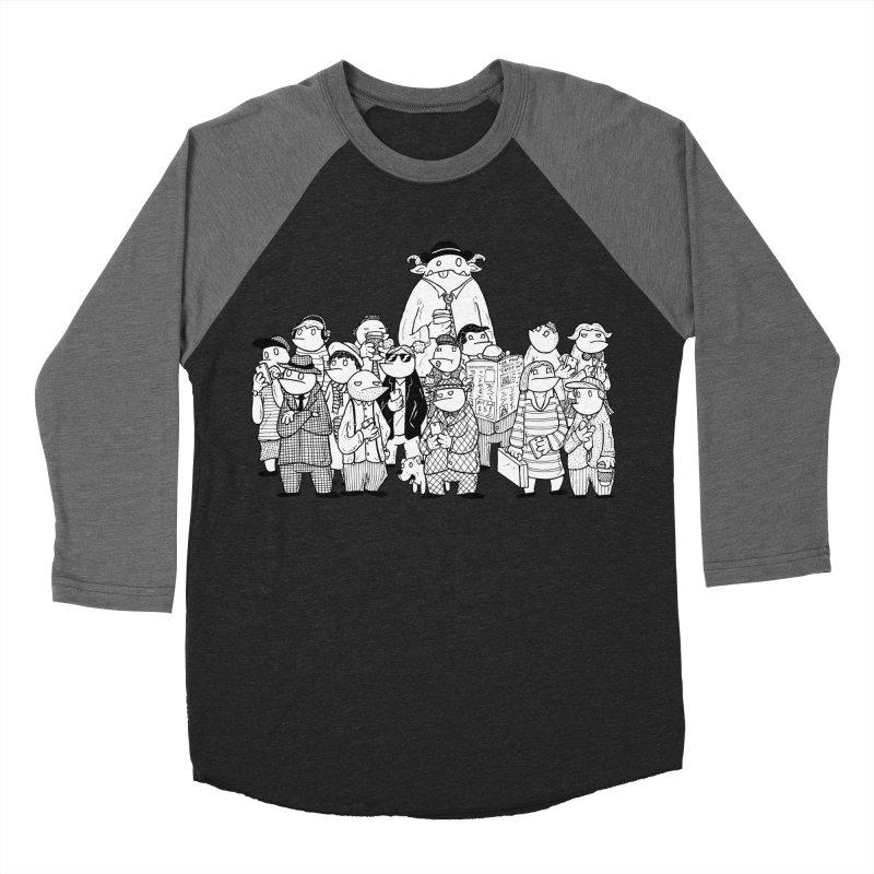 Lost in the Crowd - Bopes Women's Baseball Triblend Longsleeve T-Shirt by P. Calavara's Artist Shop
