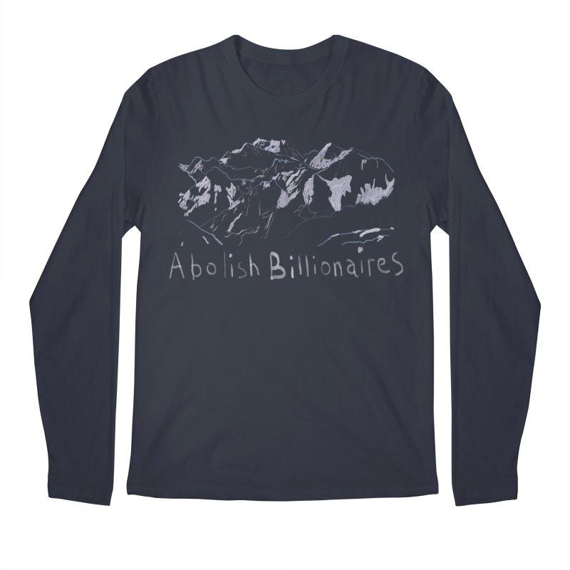 Abolish Billionaires Men's Regular Longsleeve T-Shirt by Undying Apparel Shop