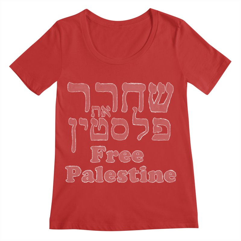 Free Palestine Women's Regular Scoop Neck by Undying Apparel Shop