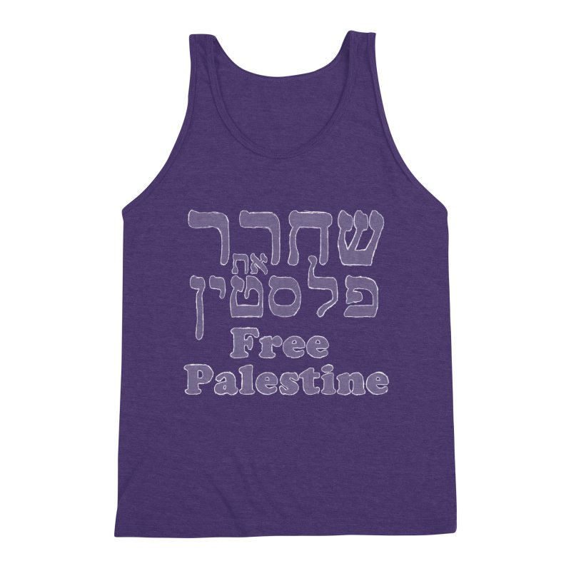 Free Palestine Men's Triblend Tank by Undying Apparel Shop