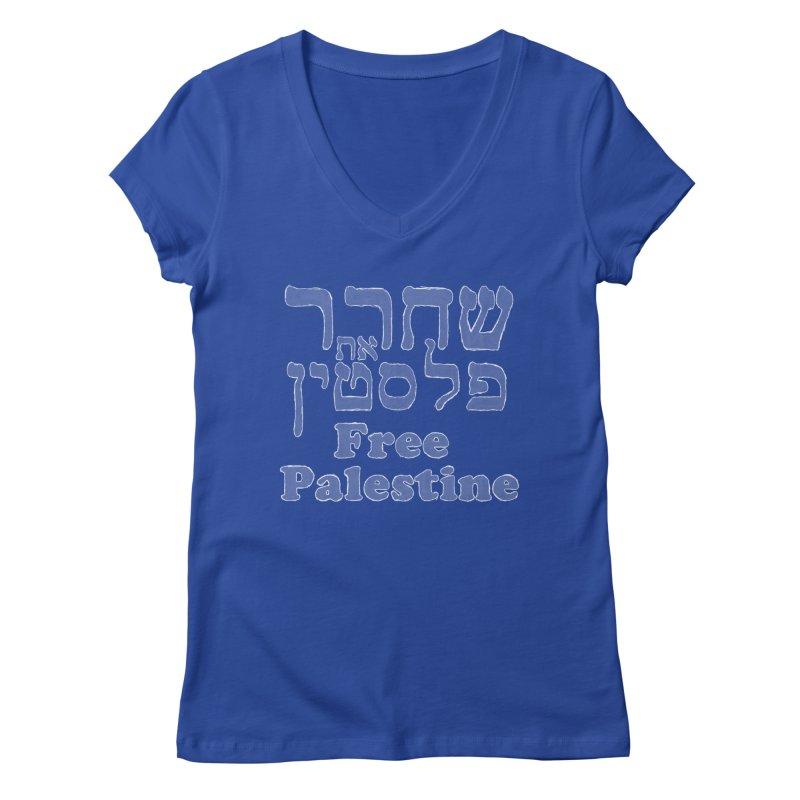 Free Palestine Women's Regular V-Neck by Undying Apparel Shop