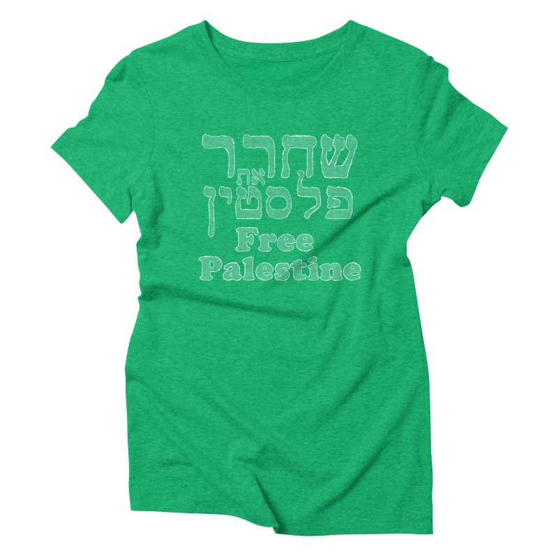 Free Palestine Women's Triblend T-Shirt by Undying Apparel Shop