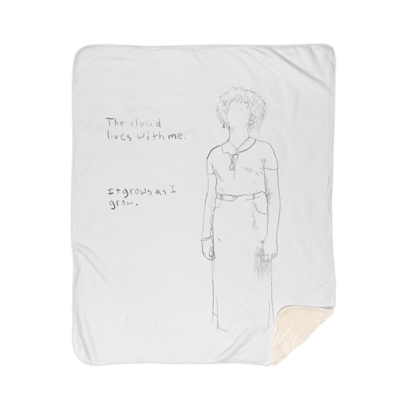 Ice Red Shirt Home Sherpa Blanket Blanket by Undying Apparel Shop