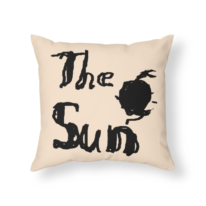 Shirt about the Sun Home Throw Pillow by Undying Apparel Shop