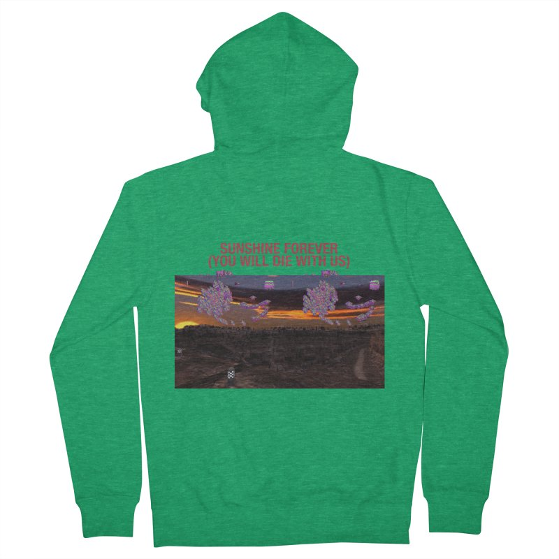 sunshine forevr Men's Zip-Up Hoody by Undying Apparel Shop
