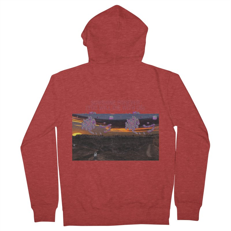 sunshine forevr Men's French Terry Zip-Up Hoody by Undying Apparel Shop